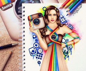 art, creative, and sketchpad image