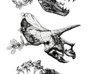 dinosaur, tattoo, and art image