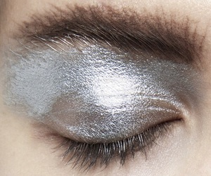 silver, makeup, and eyes image