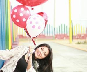balloons, blue hair, and enjoy image