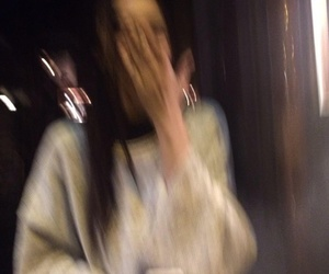 girl and blurry image