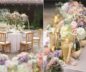 flowers, gold, and gorgeous image