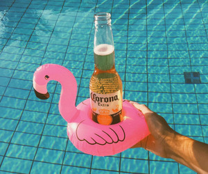 summer, pink, and beer image