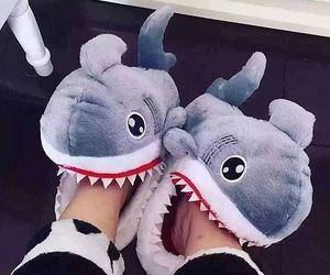 shark, funny, and shoes image