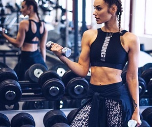 girl, fitness, and style image