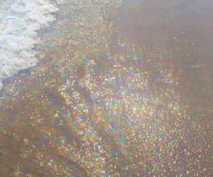 purple, beach, and aesthetic image