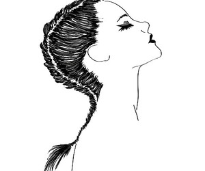 beauty, black and white, and outline image