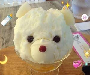 bear, dessert, and shaved ice image