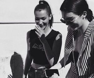 kendall jenner, bella hadid, and model image