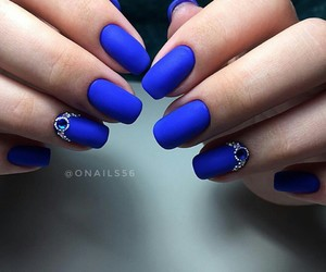 nails, fashion, and blue image