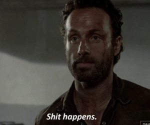 the walking dead, shit, and rick grimes image
