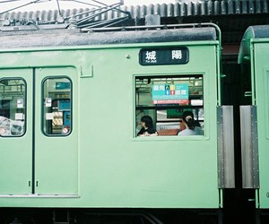 green, train, and grunge image