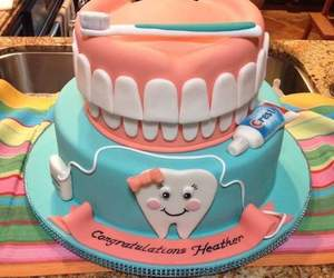 cake, dentist, and dentistry image