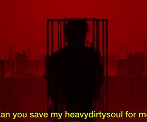 aesthetic, Lyrics, and red image