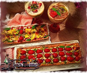 delicious, food, and puding image