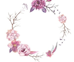 pattern, wallpaper, and flowers image