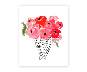 etsy, floral wall art, and cute wall art image