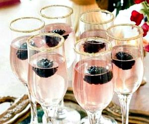 blackberry, drink, and champagne image