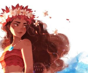 moana, art, and disney image