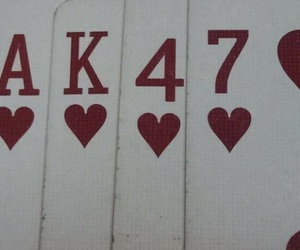 ak47, cards, and red image