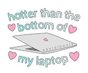 overlay, laptop, and Hot image