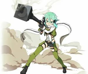 anime, sinon, and sword art online image