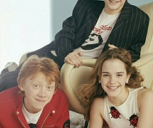 harry potter, daniel radcliffe, and emma watson image