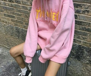 pink, grunge, and style image