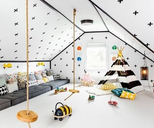 home, interior, and kids image