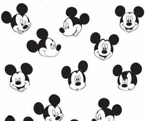 black&white, disney, and mickey image