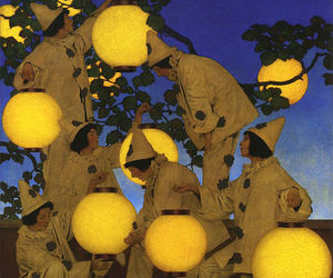maxfield parrish and the lantern bearers image