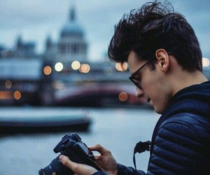 boy, glasses, and photography image
