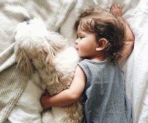 baby, dog, and kids image