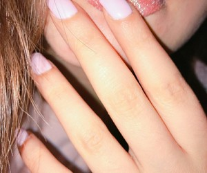 lips, nails, and love image
