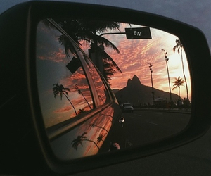 car, sunset, and summer image