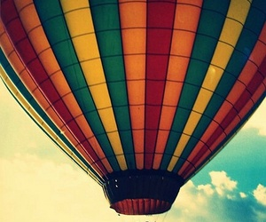 balloons, fly, and sky image