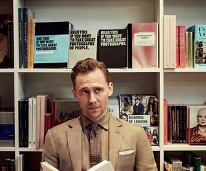 tom hiddleston, actor, and book image