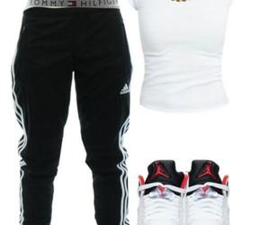 adidas, fashion, and black and white image