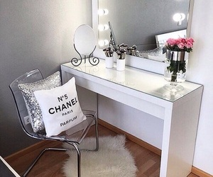 makeup, room, and chanel image
