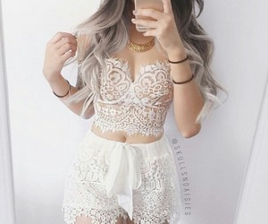 lace, summer, and white image