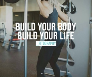 workout, fitness, and healthy image