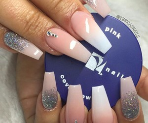 acrylic, glitter, and nail image