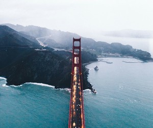 california, travel, and love image