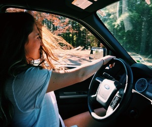 girl, summer, and drive image