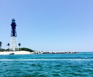 florida, lighthouse, and ocean image