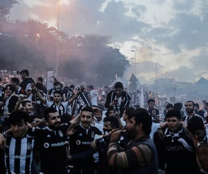 blackandwhite, fans, and Çarşı image