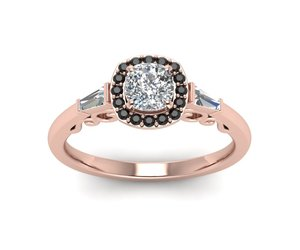halo rings, rose gold rings, and womens wedding rings image
