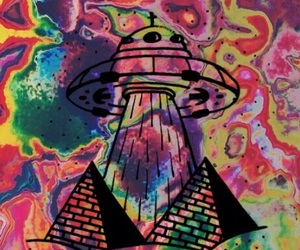 alien, background, and hippie image