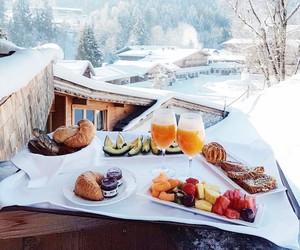snow, winter, and food image