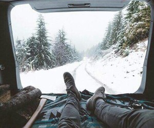 car, travel, and winter image